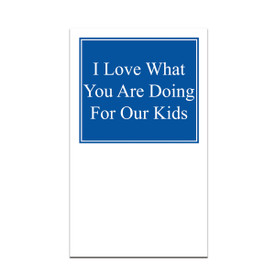 pocket card with i love what you are doing message