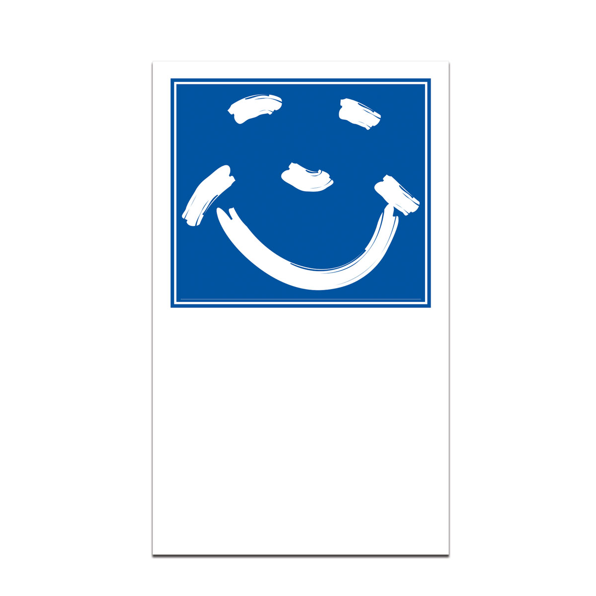 pocket card with smiley face