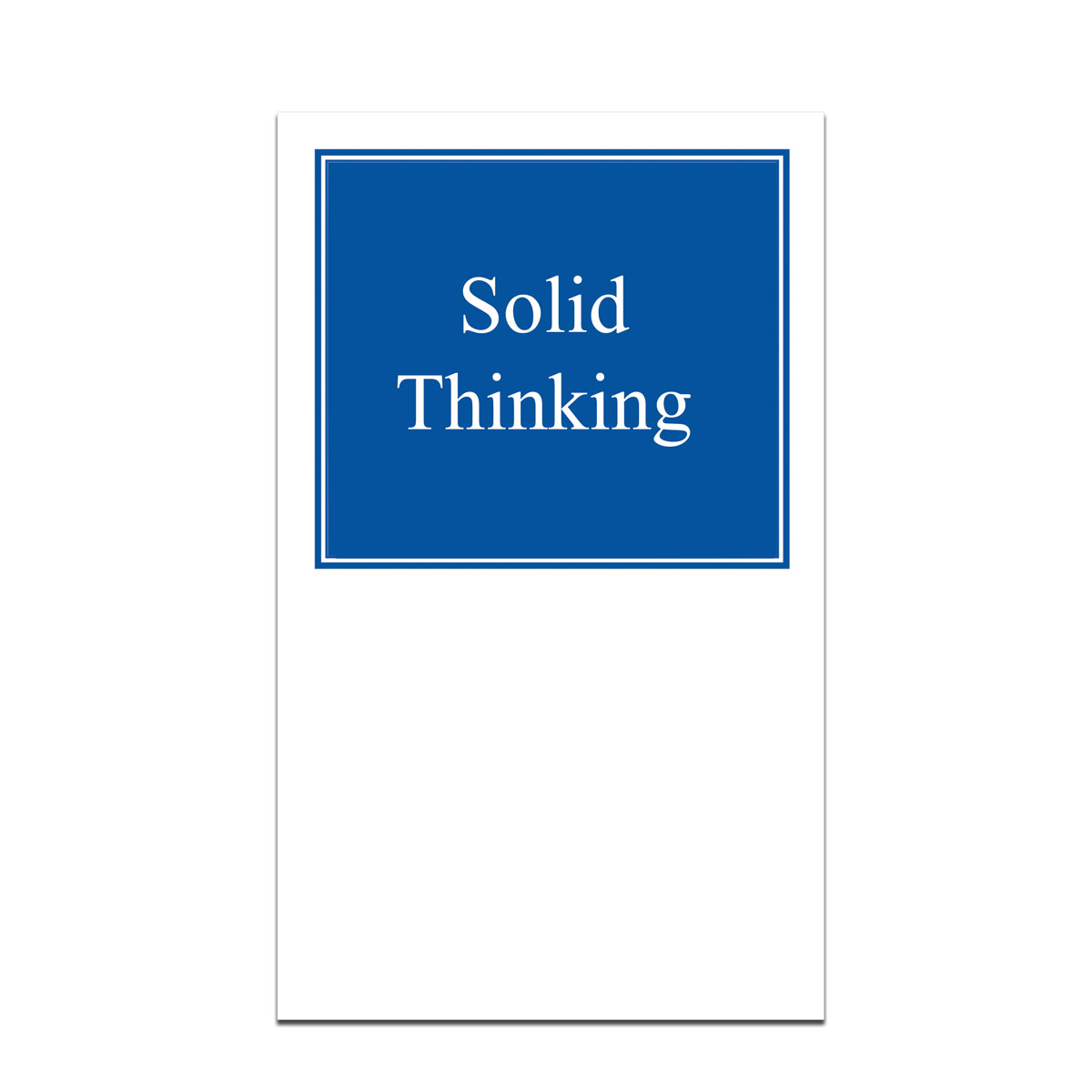 pocket card with solid thinking message