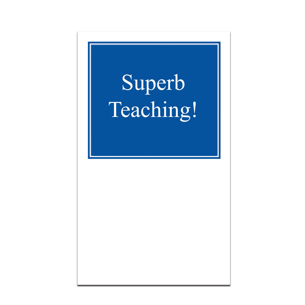 pocket card with superb teaching message