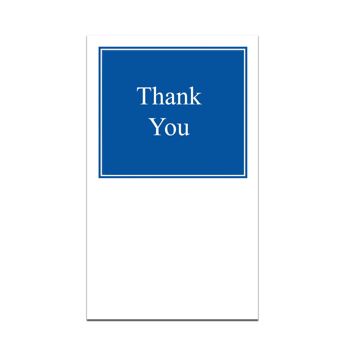 pocket card with thank you message