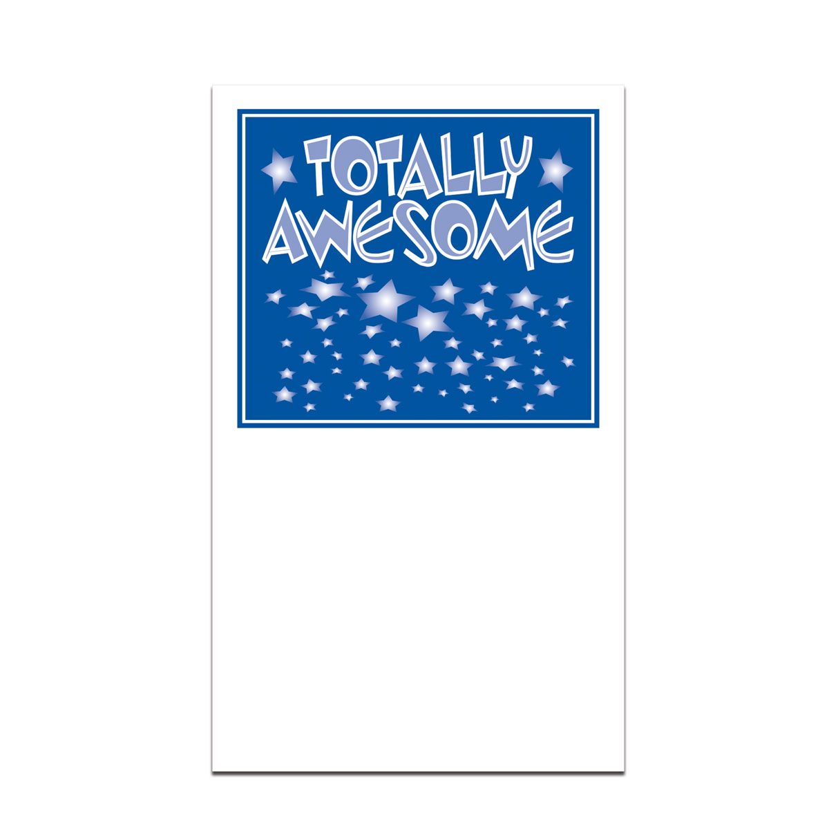 pocket card with totally awesome message
