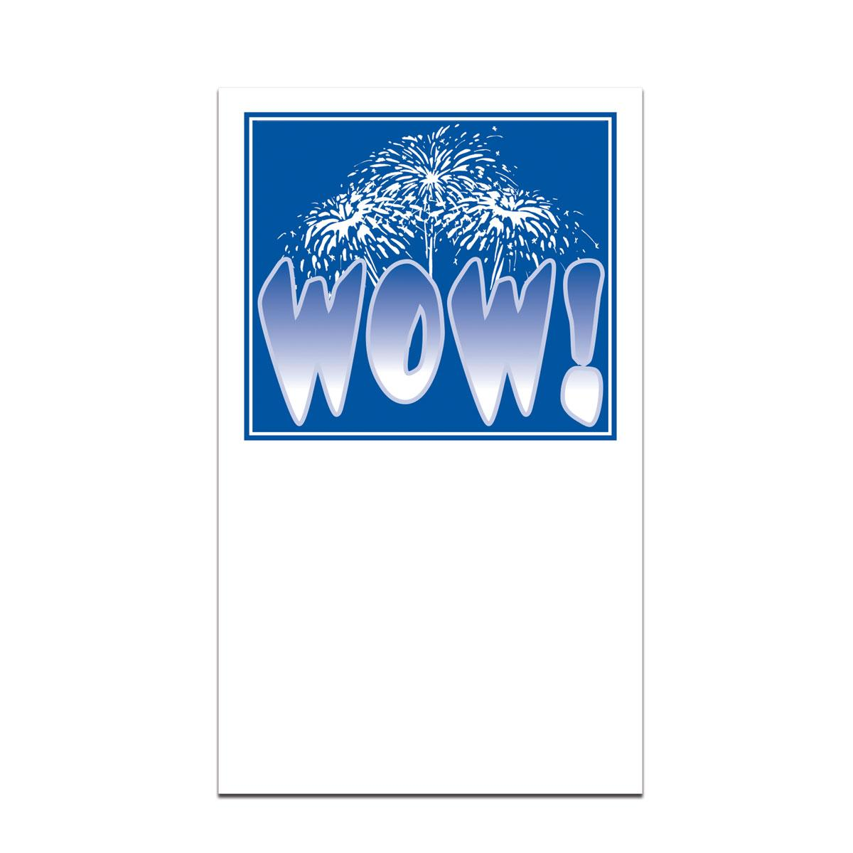 pocket card with wow message
