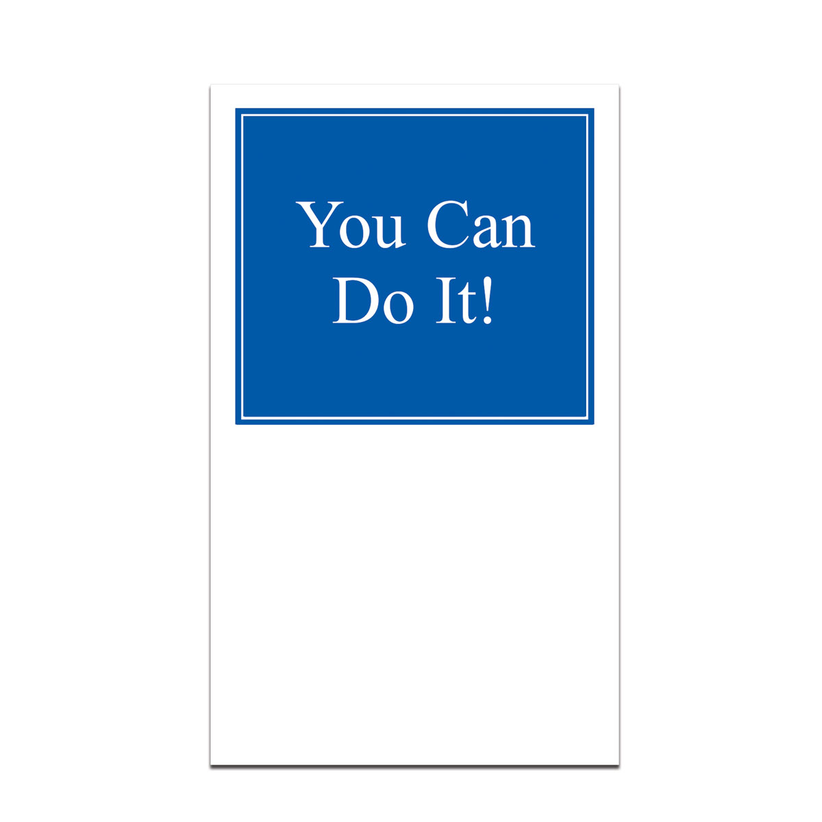 pocket card with you can do it message