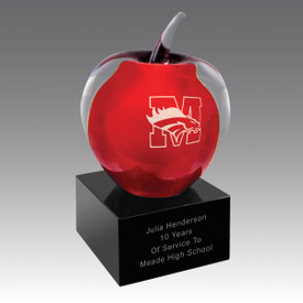 Our Red Art Glass Apple Award is the perfect appreciation gift for teachers.