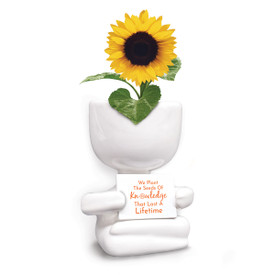 This People Planter Kit Features The Message: We Plant The Seeds Of Knowledge That Last A Lifetime. Grows Patriotic Flowers.