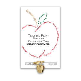 Make a Difference Golden Apple Lapel Pin for Teachers