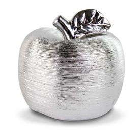 silver spun ceramic apple