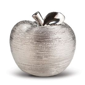 silver spun ceramic apple
