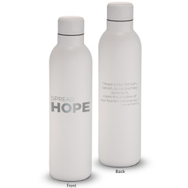 17oz. stainless steel insulated water bottle featuring the inspirational message Spread Hope. 6 colors to choose from.