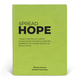 ApPEEL Grande Journal featuring the inspirational message Spread Hope. 3 colors to choose from.