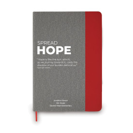 This heather gray hardbound journal features the message Spread Hope making it the perfect gift for teachers.