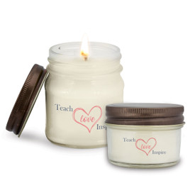 This Teach Love Inspire Mason Jar Candle Is the Perfect Practical Gift for Teacher Appreciation