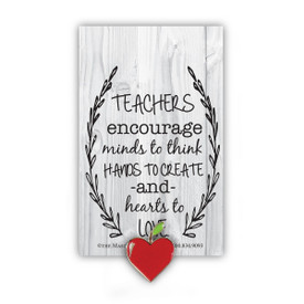 Teachers Encourage Lapel Pin With Presentation Card