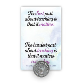 Teaching Matters Lapel Pin With Presentation Card