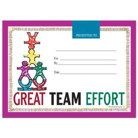 great team effort certificate