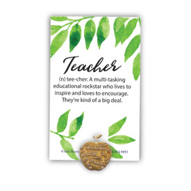 Tee-cher Lapel Pin With Presentation Card