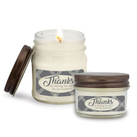 This Thanks For Shining The Light Mason Jar Candle Is the Perfect Practical Gift for Teacher Appreciation
