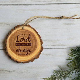 wooden ornament with the lord will guide you message