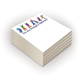set of 5 making a difference sticky note pads