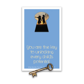 you are the key lapel pin and message card