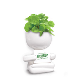 This People Planter Kit Features The Message: Every Day, Your Commit-Mint & Encourage-Mint Makes A Difference. Grows Mint.